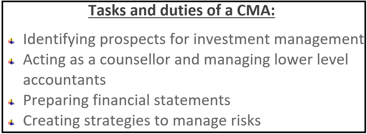 Task and Duties of CMA