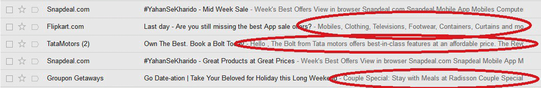 second subject line in mails